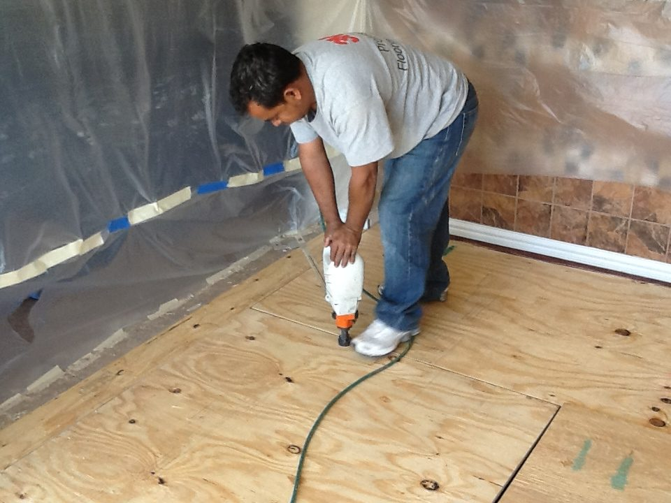 DFW Custom Wood Floors - Installing Sub Floors